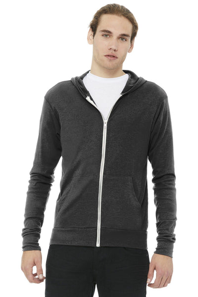 BELLA+CANVAS  Unisex Triblend Full-Zip Lightweight Hoodie - Threads With An Edge LLC.