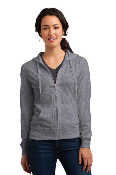 District Women's Fitted Jersey Full-Zip Hoodie - Threads With An Edge LLC.