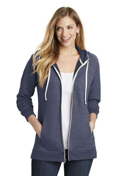 District  Women's Perfect Tri  French Terry Full-Zip Hoodie - Threads With An Edge LLC.