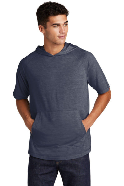 Sport-Tek  PosiCharge  Tri-Blend Wicking Short Sleeve Hoodie - Threads With An Edge LLC.
