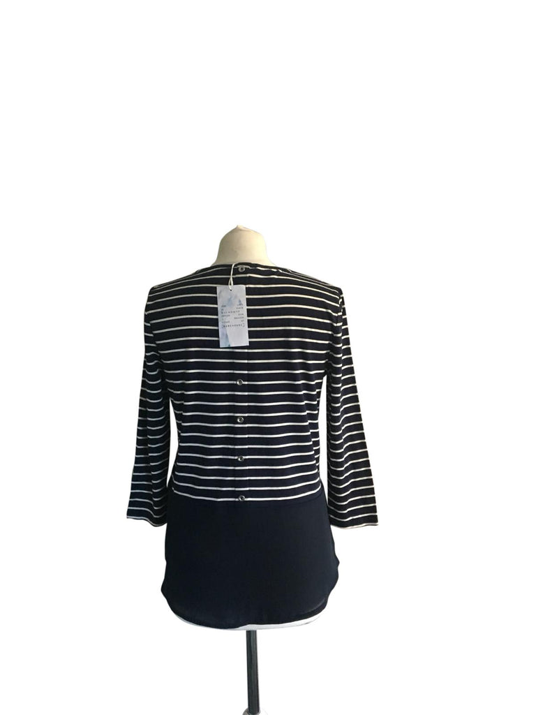 Warehouse Stripe Button Back Top -Size 12 - New with Tags