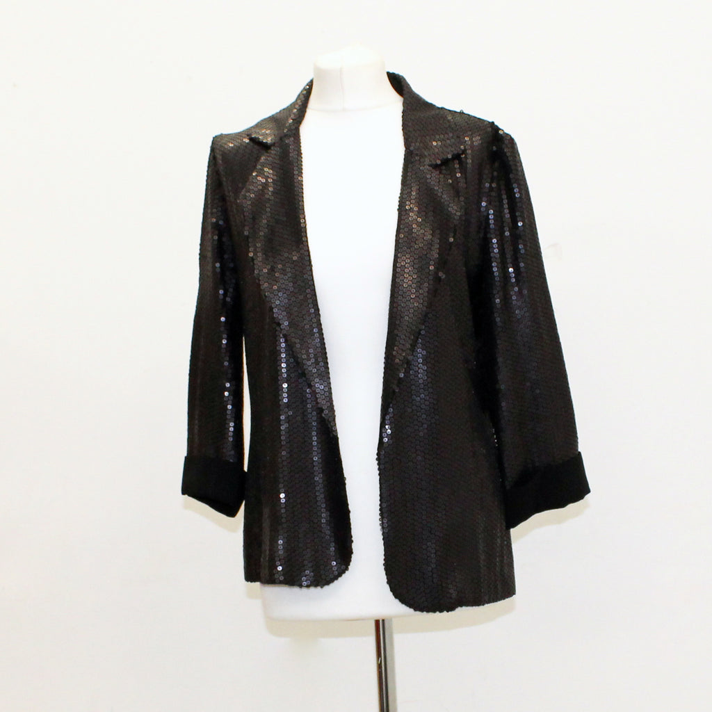 Warehouse Black sequin Blazer - Size 14