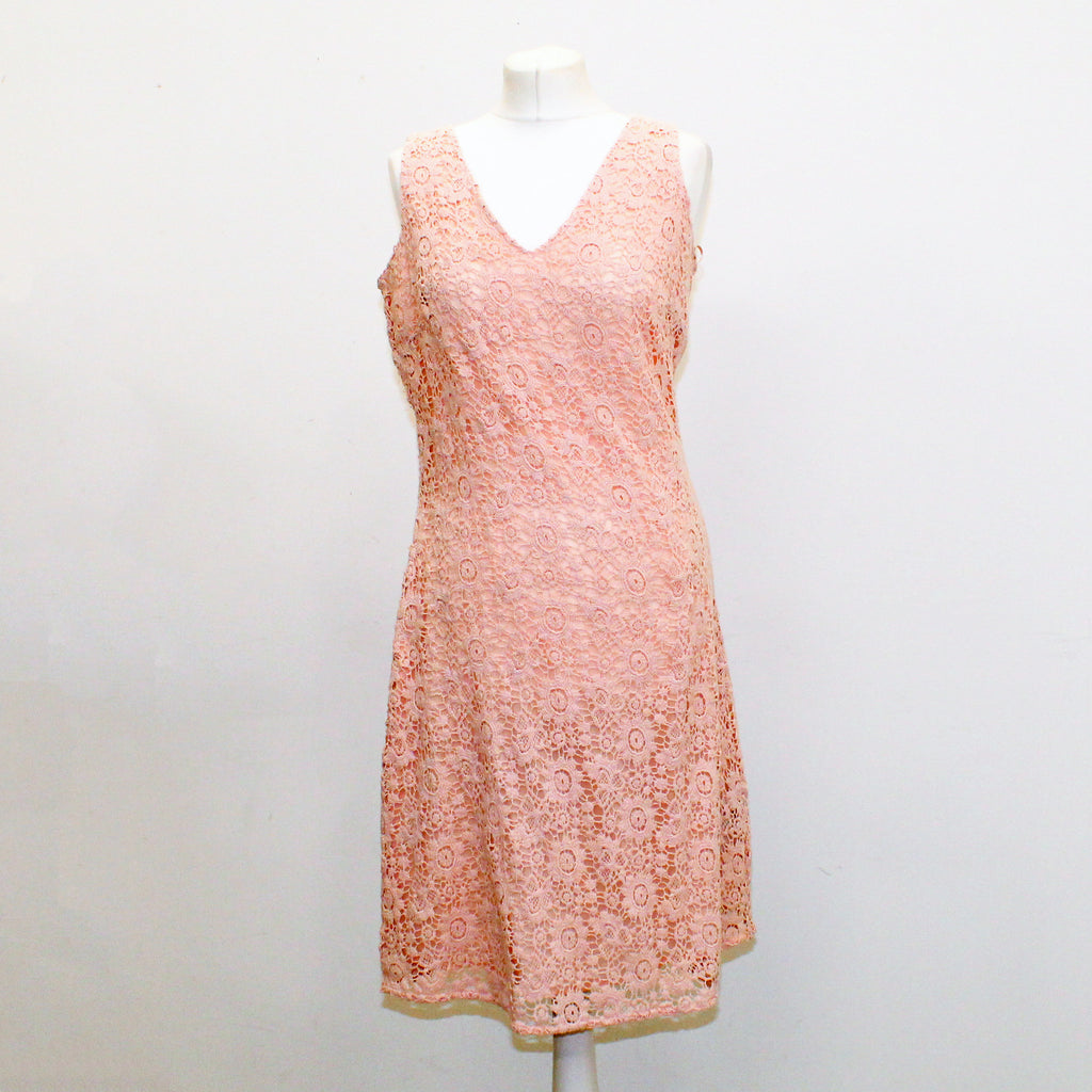 Ralph Lauren Crochet Sleeveless Pink Dress - Size 10