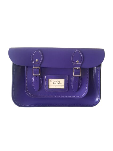 The Leather Satchel Co BellFlower Purple 12.5 inch