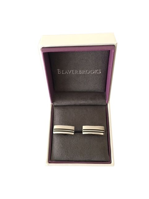Beaverbrooks Stainless Steel Black PVD Cuff Links - New in Box