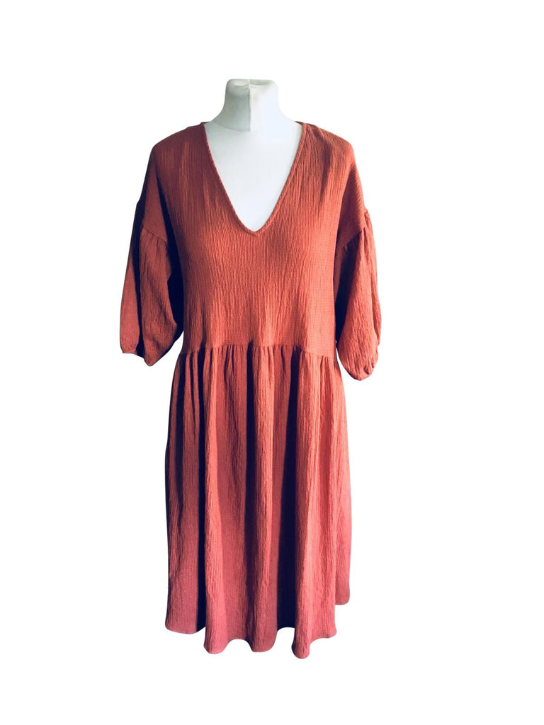 Zara Terracota Dress - Size - 10 - New With Tags