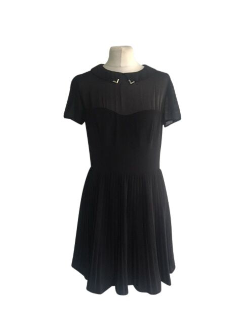 Oasis Black Dress - Size 10 - Preloved