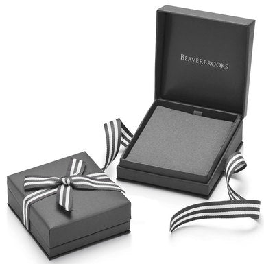Beaverbrooks 9CT White Gold Cubic Zirconia Solitaire Ring - New in Box