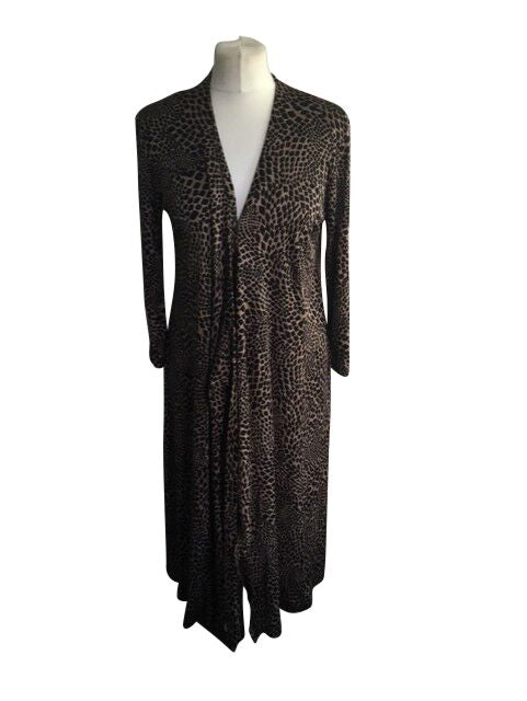 Jaegar Cheetah Long Dress - Size Medium - Preloved