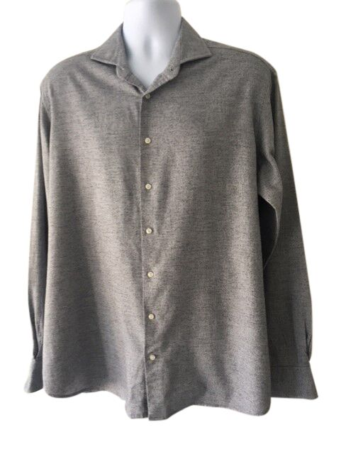 Hackett Of London Mens Grey Shirt - Size X Large Slim Fit - Preloved