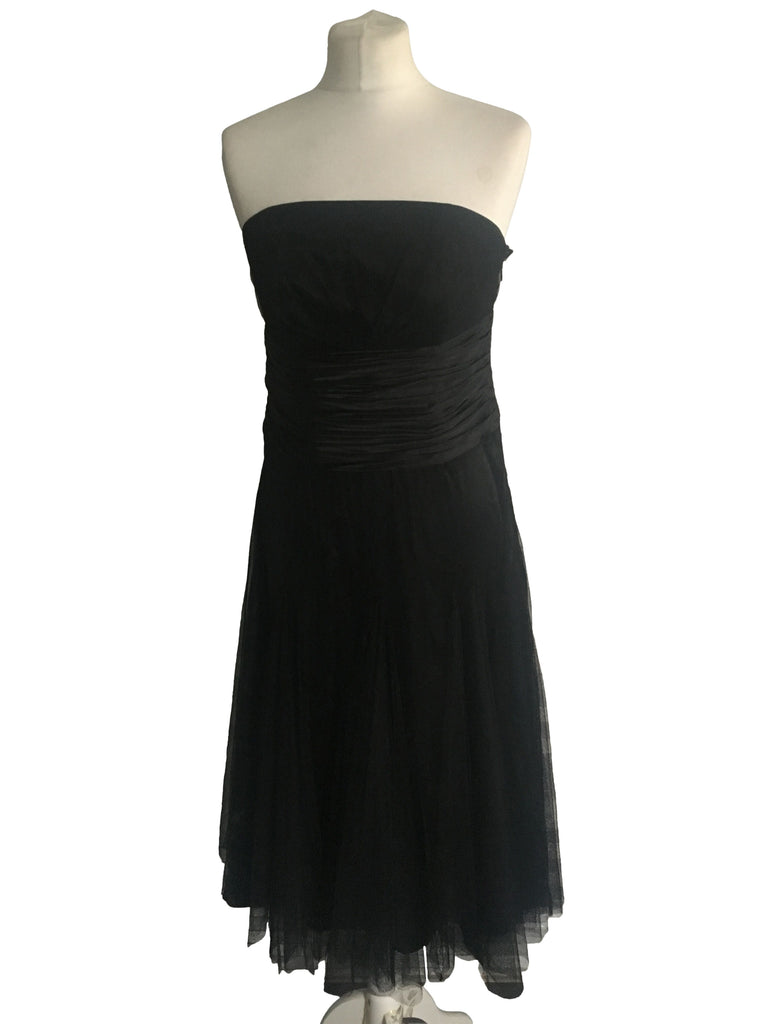 Monsoon Black Cocktail Dress - Size 12 - Preloved