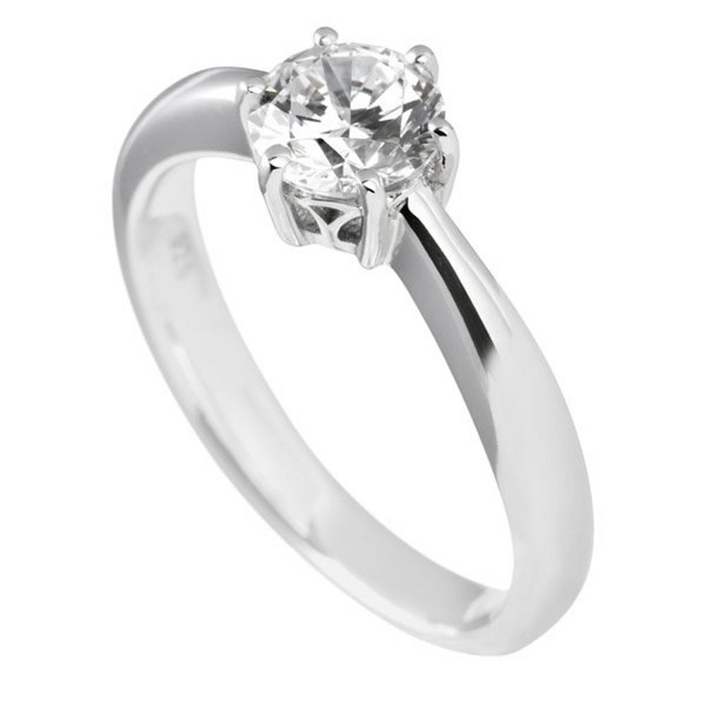 Beaverbrooks Diamonfire Silver Cubic Zirconia Solitaire Ring - New - Size - O