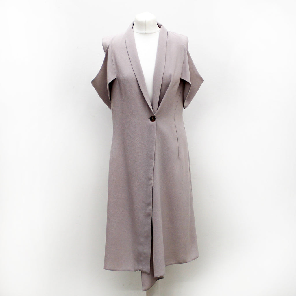 Missguided Grey Shoulder Blazer Dress -Size 14 - New With Tags