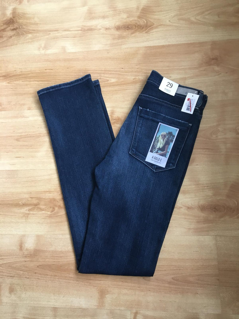 A Gold E Los Angeles Annette Hi Waist Straight Blue Jeans - Size 29 L- New With Tags