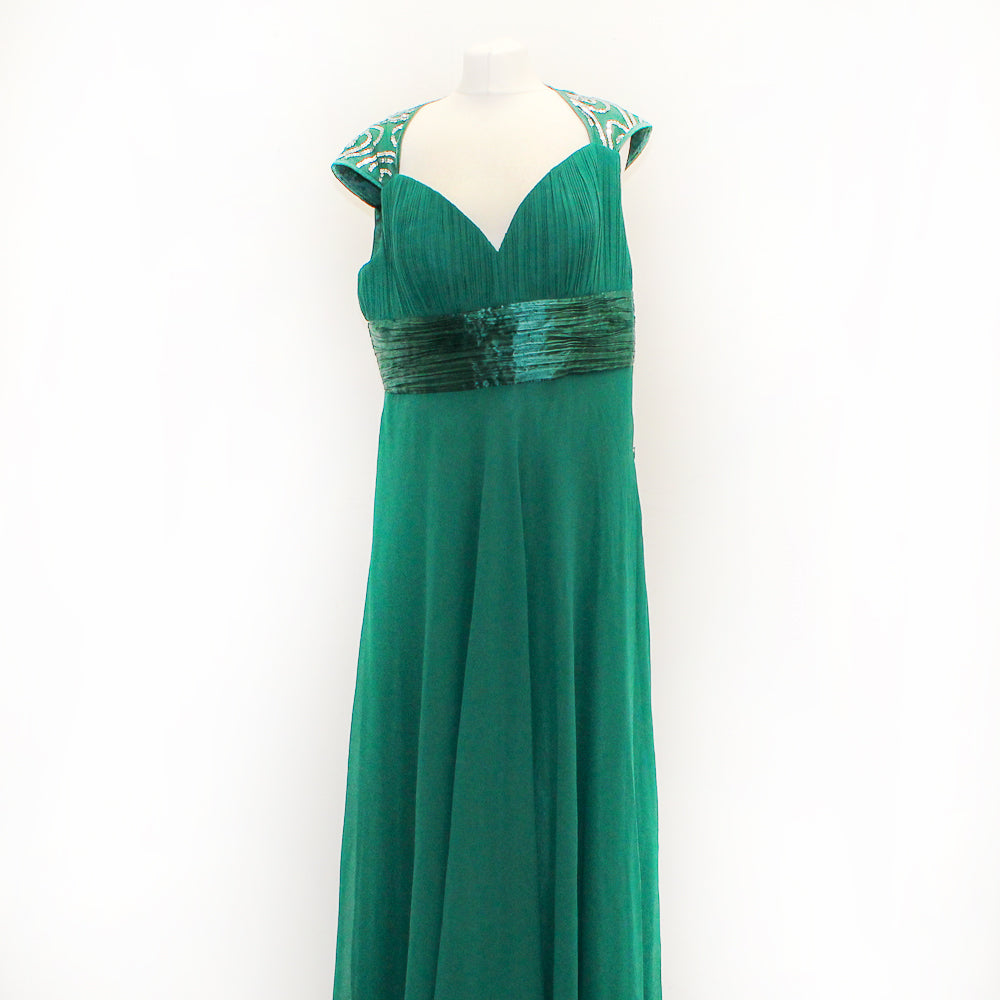 Ever Pretty Green Long Maxi Dress - Size 16