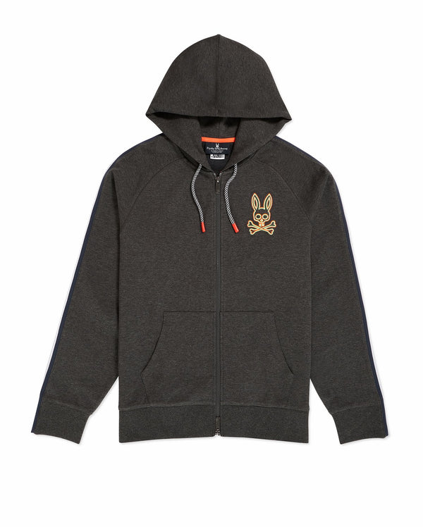 Psycho Bunny Men's Newhall Hoodie - Heather Charcoal
