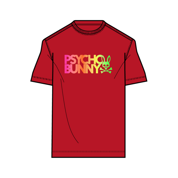 Psycho Bunny Boy's Sheffield Foil Tee - Brilliant Red