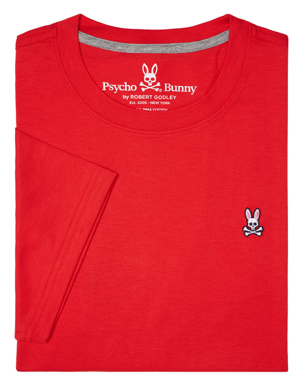 Psycho Bunny Men's Crew Neck Tee - Brilliant Red