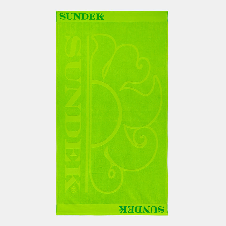 Sundek Icon Towel - Fluorescent Green