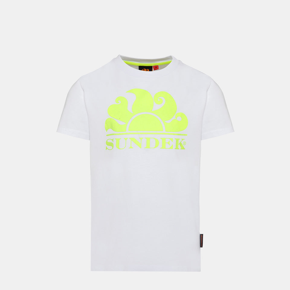 Sundek Boy's New Simeon Logo T-Shirt - White