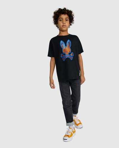 Psycho Bunny Boy's Hassop Graphic Tee - Black