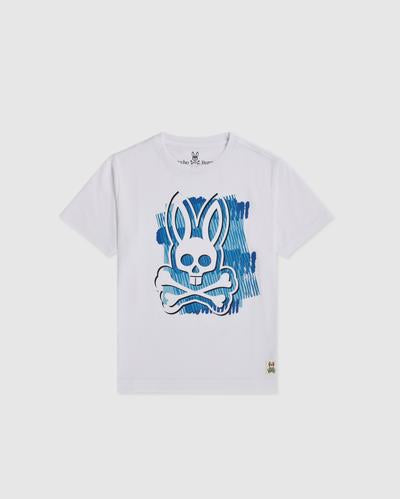 Psycho Bunny Boy's Newton Graphic Tee - White