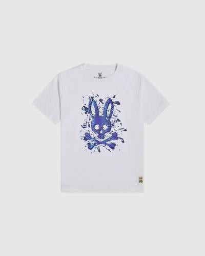 Psycho Bunny Boy's Seymour Graphic Tee - White