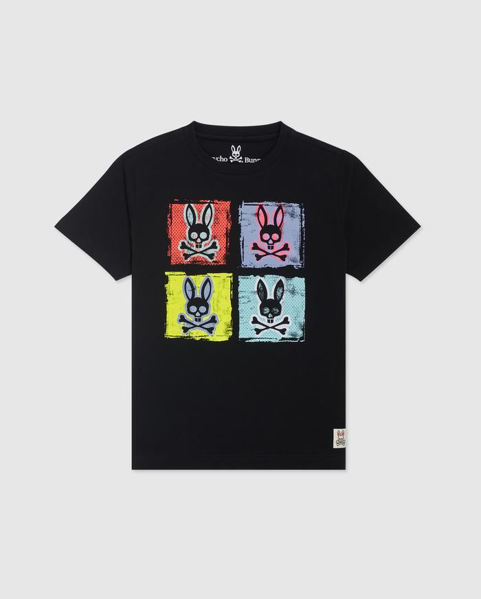 Psycho Bunny Men's Spalding Graphic Tee - Black