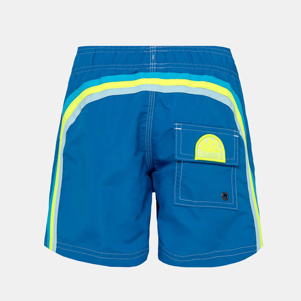 Sundek Boy's Boardshort Elastic Waist Swim Trunks - Ocean