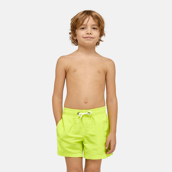 Sundek Boy's Boardshort Elastic Waist Swim Trunks - Wow Yellow