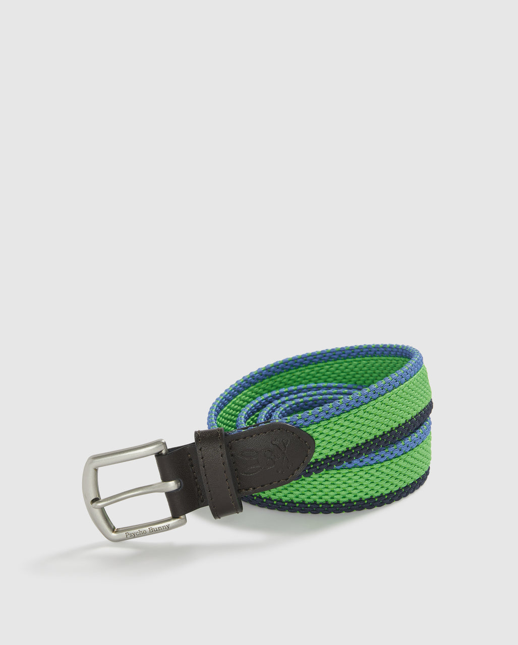 Psycho Bunny Men's Elastic Wide Stripe Belt - Andean Toucan
