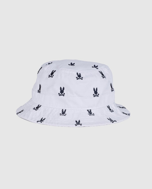 Psycho Bunny Men's Bucket Hat - White