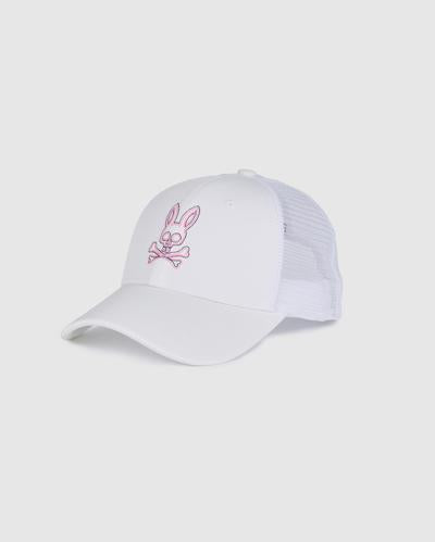 Psycho Bunny Men's Baseball Cap - White