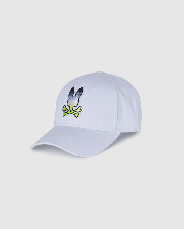 Psycho Bunny Men's Clifton Baseball Cap - White