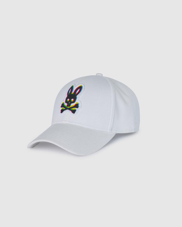 Psycho Bunny Men's Holloway Baseball Cap - White
