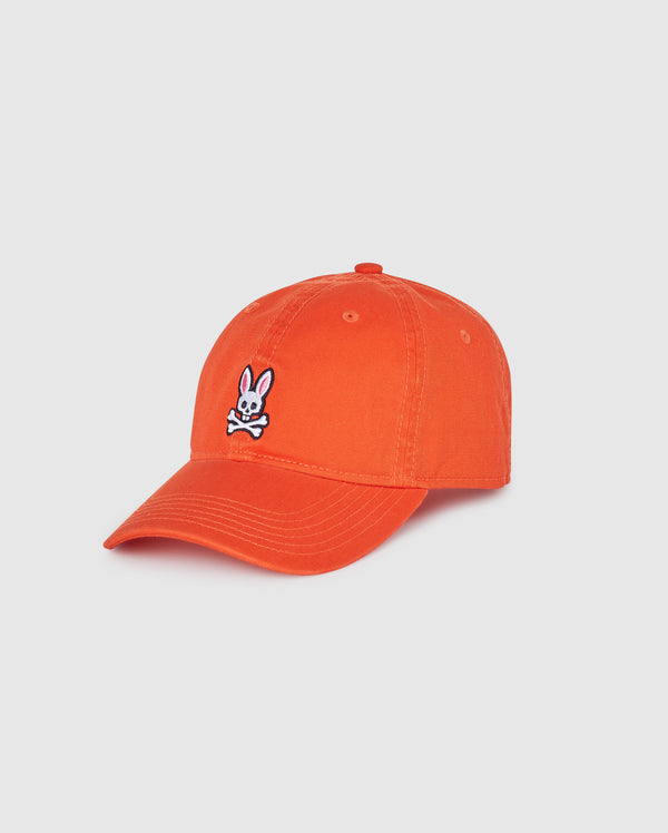 Psycho Bunny Men's Baseball Cap - Fiesta Orange