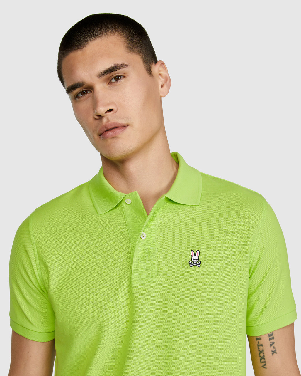 Psycho Bunny Men's Classic Polo - Electric Lime