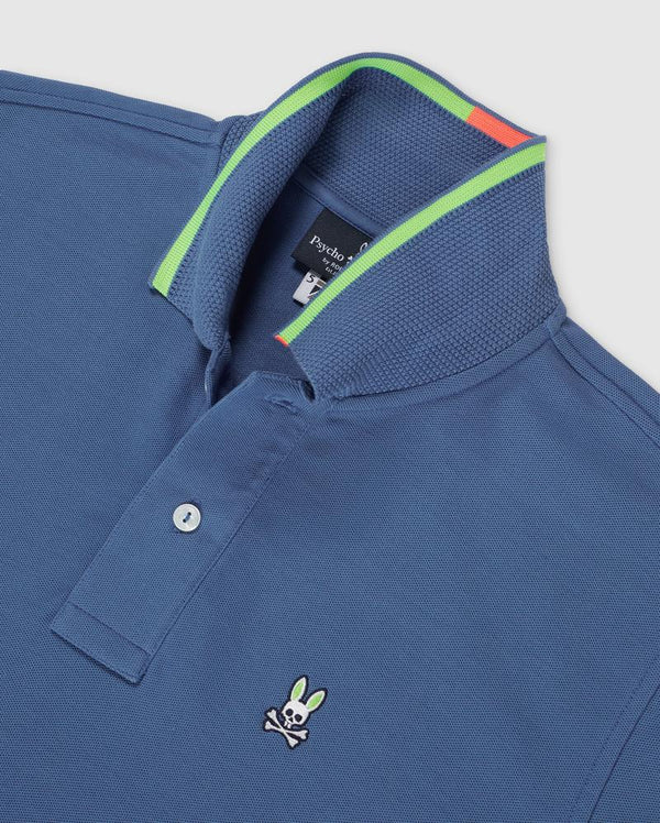 Psycho Bunny Men's Brookshank Polo - Delta