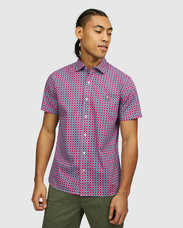 Psycho Bunny Men's SS Sport Shirt - Bloom