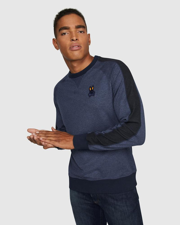 Psycho Bunny Men's Masson Sweatshirt - Heather Navy