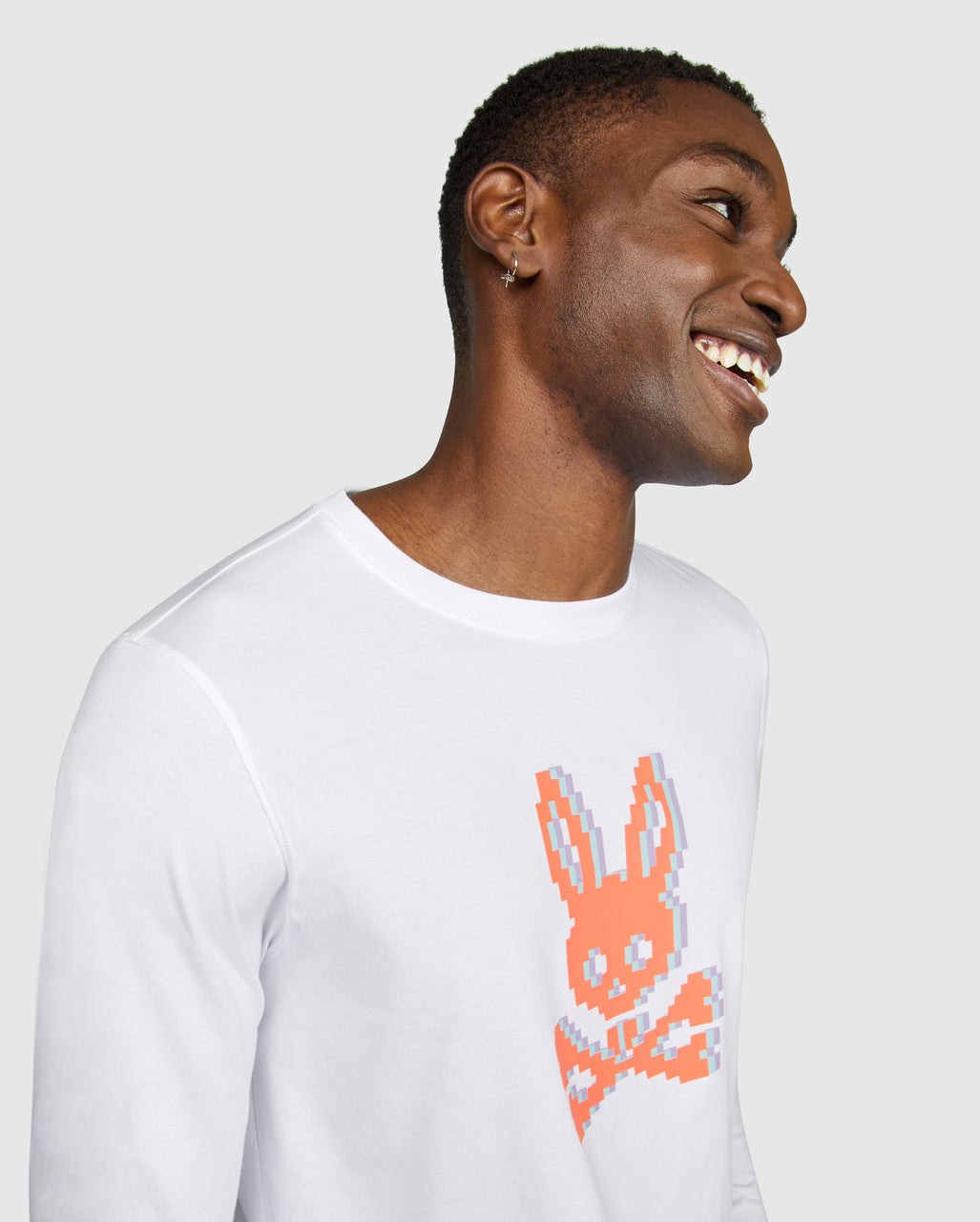 Psycho Bunny Men's Hatton Long Sleeve Tee - White