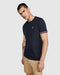 Psycho Bunny Men's Norbury Tipped Crew Neck Tee - Navy