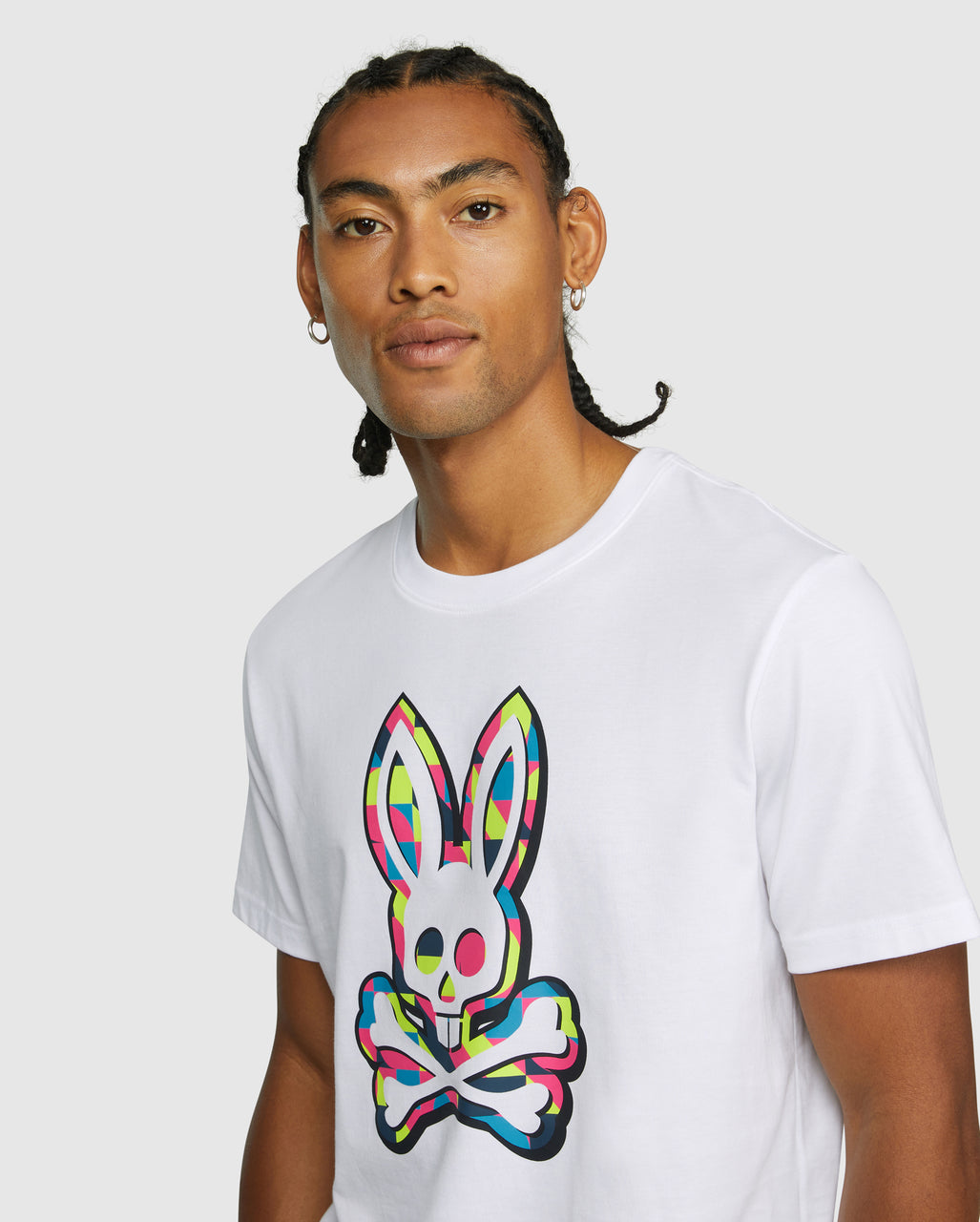 Psycho Bunny Men's Wycombe Graphic Tee - White
