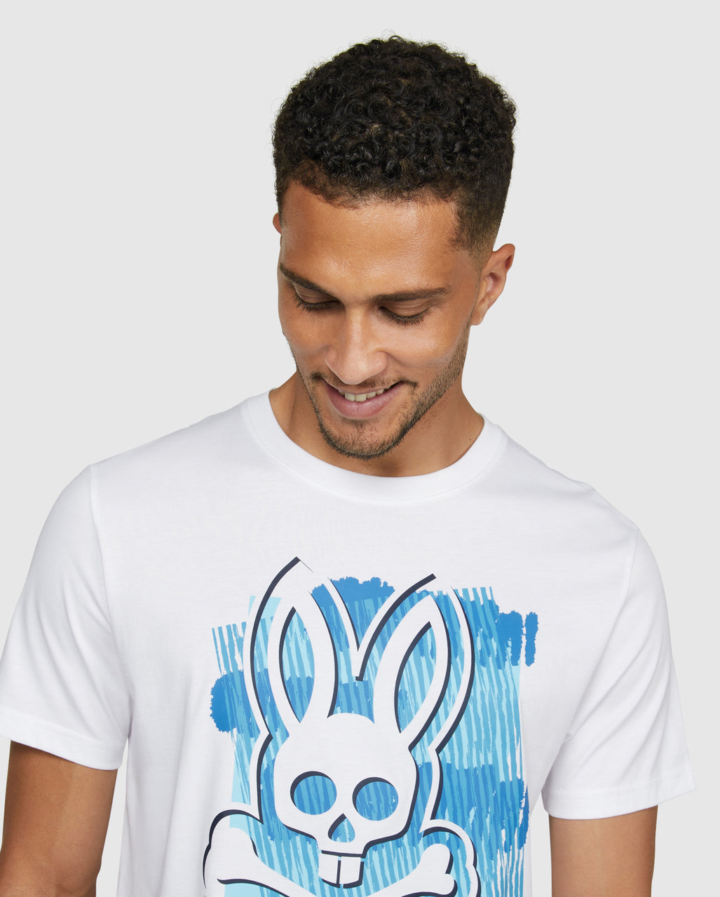 Psycho Bunny Men's Newton Graphic Tee - White