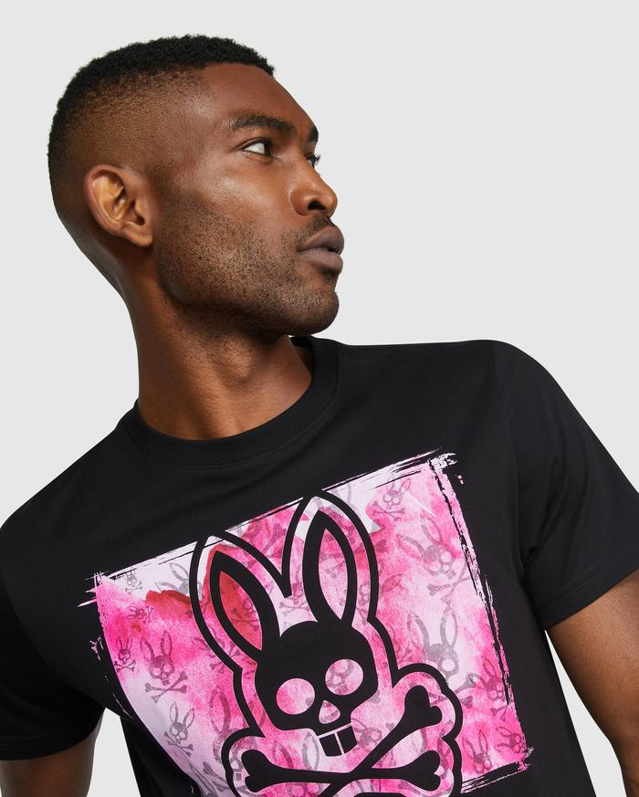 Psycho Bunny Men's Haley Graphic Tee - Black