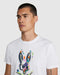 Psycho Bunny Men's Langley Graphic Tee - White