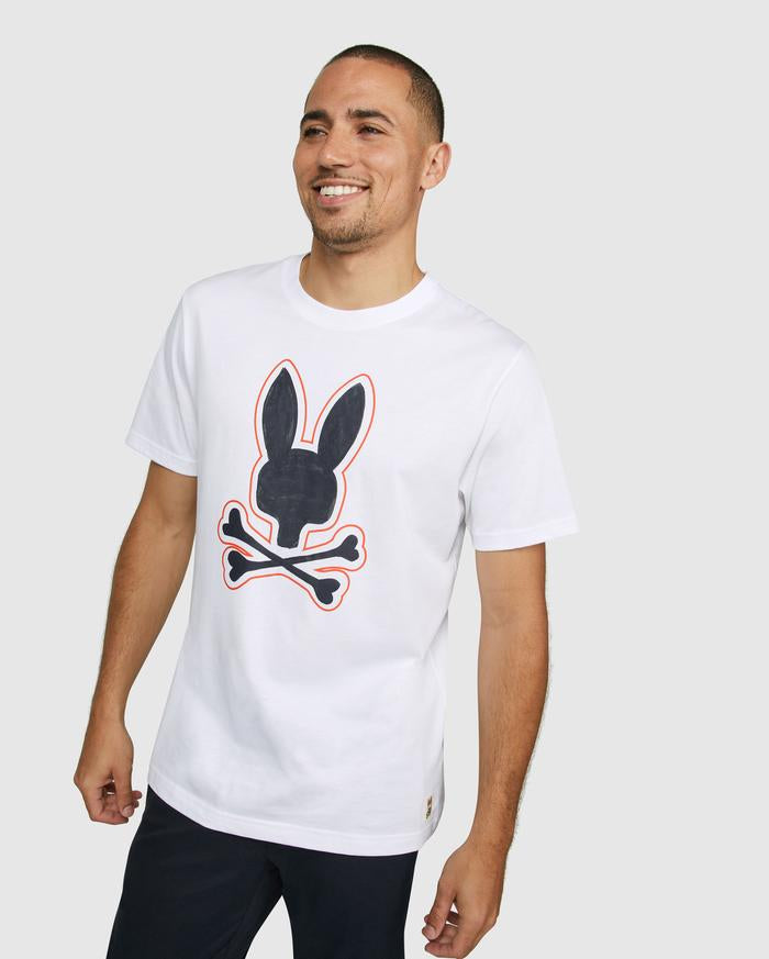 Psycho Bunny Men's Kendal Graphic Tee - White