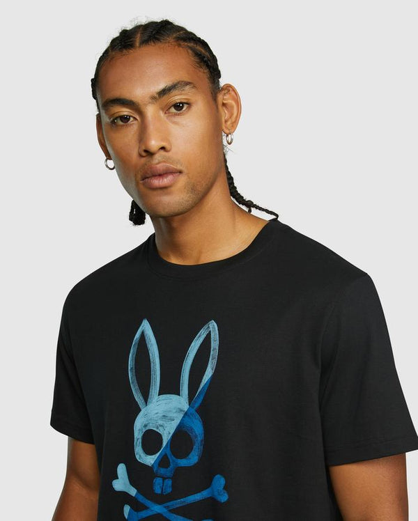 Psycho Bunny Men's Andover Graphic Tee - Black