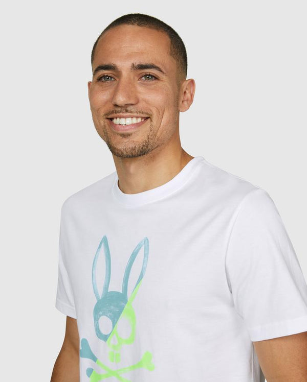 Psycho Bunny Men's Andover Graphic Tee - White