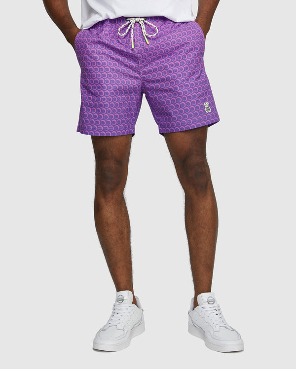 Psycho Bunny Men's Plockton Swim Trunks - Violet Storm